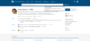 LinkedIn Sales Navigator Search